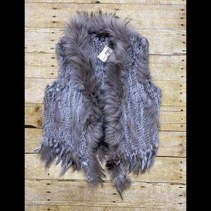 NWT Caribbean Queen fur vest M/L